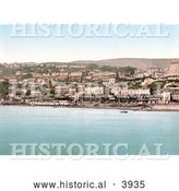Historical Photochrom of the Waterfront Village of Ventnor Isle of Wight England UK by Al