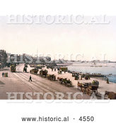 Historical Photochrom of the West Promenade Along the Coast InMorecambe Lancashire England UK by Al