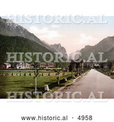 Historical Photochrom of Toblach, New Toblach, Tyrol, Austria by Al