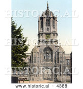 Historical Photochrom of Tom Tower at the Main Entrance of Christ Church in Oxford Oxfordshire England by Al
