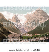 Historical Photochrom of Trafoi, Hotels Bellevue, Schonen Aussicht, and Trafoi, Tyrol, Austria by Al