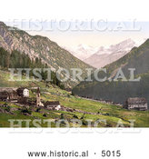 Historical Photochrom of Tre Croci with a View Towards the Weisskogl (Weisser Knott), Tyrol, Austria by Al