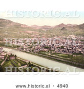 Historical Photochrom of Trient, Tyrol, Austria by Al