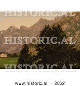 Historical Photochrom of Troldtinderne, Romsdalen, Norway by Al