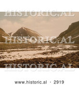 Historical Photochrom of Tverdalen at Advent Bay, Spitzbergen, Norway by Al