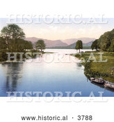 Historical Photochrom of Two Rowboats near Shore for Visitors of the Sun Hotel on Ullswater and River Eamont Lake District Cumbria England UK by Al