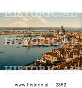 Historical Photochrom of Venice by Al