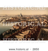 Historical Photochrom of Venice, Italy by Al