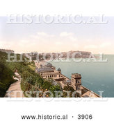 Historical Photochrom of View of Scarborough from the South Cliff Promenade North Yorkshire England UK by Al