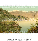 Historical Photochrom of Vitznau, Lake Lucerne, Switzerland by Al