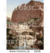 Historical Photochrom of Waterfalls in the Cascades, Constantine, Algeria by Al