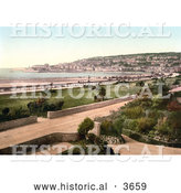Historical Photochrom of Weston-super-Mare on the Bristol Channel in North Somerset England UK by Al