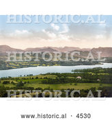 Historical Photochrom of Windermere, Cumbria, Lake District, England by Al