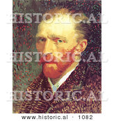 Historical Vector Illustration of a Self Portrait Featuring Vincent Van Gogh by Al