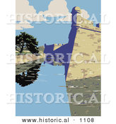Historical Vector Illustration of the Castillo De San Marcos in St. Augustine, Florida by Al