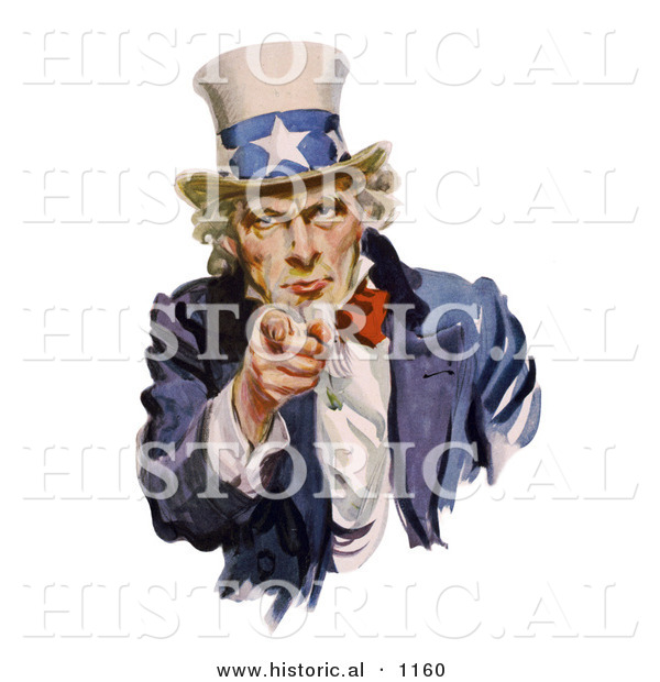 Historical Illustration of Uncle Sam Pointing at You