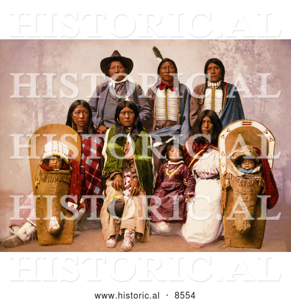 Historical Image of Chief Sevara and Family 1899