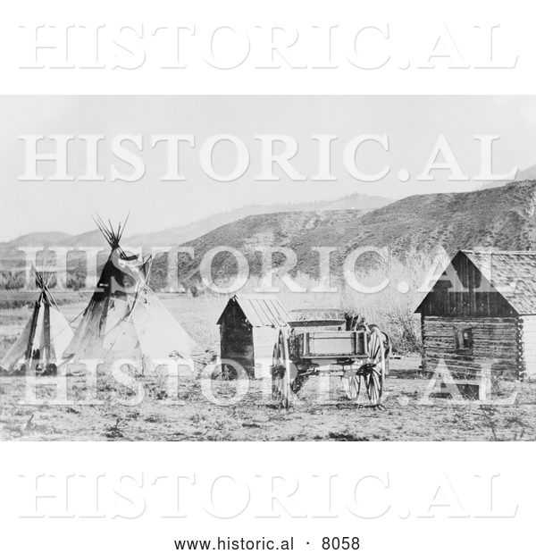Historical image of native american colville agency for Native agency