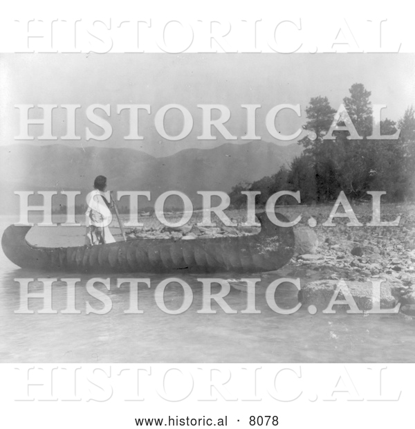Historical Image of Native American Country of the Kutenai 1910 - Black and White