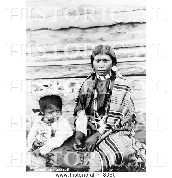 Historical Image of Sinkiuse-Columbia Indian Mother 1911 - Black and White
