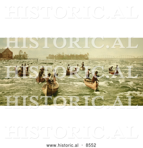 Historical Photo of Indians Fishing on the Saint Marys River 1901