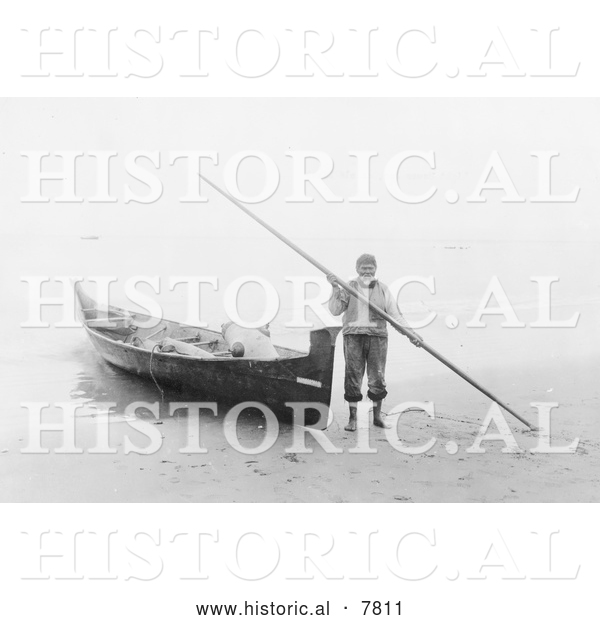 Historical Photo of Light House Joe 1910 - Black and White
