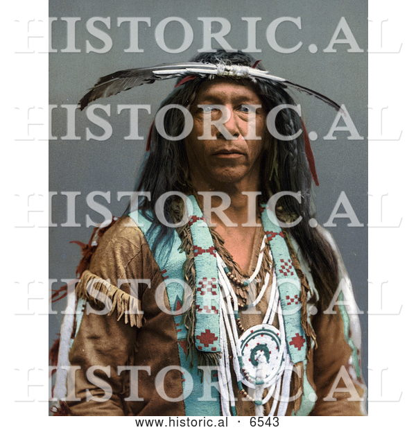 Historical Photo of Portrait of Arrowmaker, a Native American Ojibwa Indian, 1903