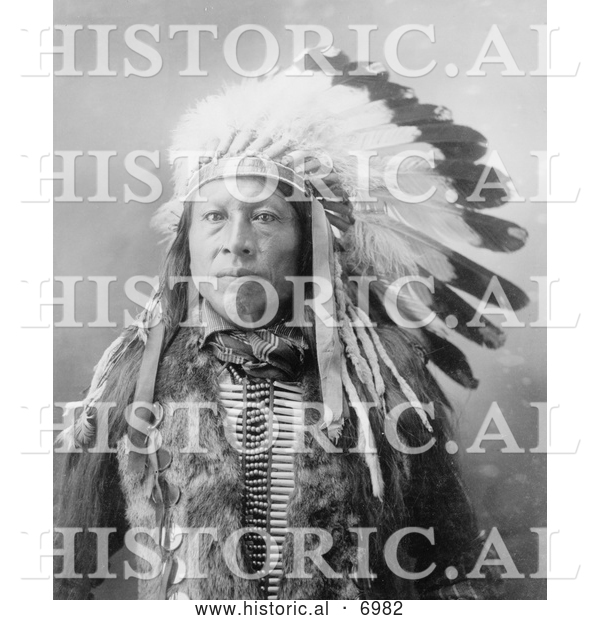 Historical Photo of Sioux Indian Named Stampede 1900 - Black and White
