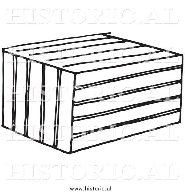 Illustration of a Crate Animal Trap - Black and White