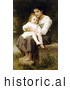 Historical Illustration of a Girl Holding Her Little Sister, Big Sis by William-Adolphe Bouguereau by Picsburg