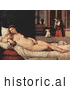 Historical Illustration of a Reclined Woman by Tiziano Vecelli by JVPD