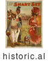 Historical Illustration of a White Woman and Black Men with a Dog 1906 by JVPD