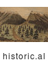 Historical Illustration of Cherokee Pass in the Rocky Mountains by JVPD