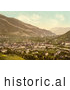 Historical Illustration of Cityscape of Chur in Switzerland by Al