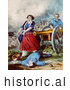 Historical Illustration of Molly Pitcher by Al