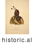 Historical Image of Sioux Indian Chief, Esh-Ta-Hum-Leah 1838 by Al