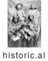 Historical Image of Ute Native American Indian Family 1902 - Black and White by Al