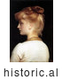 Historical Painting of a Red Haired Girl from Behind, Looking Left by Frederic Lord Leighton by JVPD