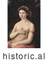 Historical Painting of a Woman Named Margherita Posing with One Hand on Her Breast, La Fornarina, by Raphael by JVPD