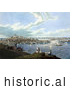 Historical Painting of People with a View of Boston and the Harbor at Dorchester Heights by Picsburg