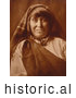 Historical Photo of Native American Acoma Woman 1904 - Sepia by JVPD