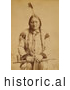 Historical Photo of Sitting Bull with Peace Pipe 1884 - Sepia by JVPD