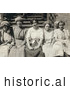Historical Photo of Young Mill Worker Girls Taking a Break in 1913 by JVPD