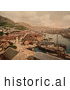 Historical Photochrom of Bergen, Norway by Al