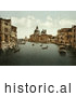 Historical Photochrom of Grand Canal, Venice, Italy by Picsburg