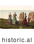Historical Photochrom of Women Chatting, Heligoland, Germany by JVPD