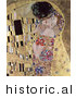 Historical Vector Illustration of Man Kissing and Embracing Woman, the Kiss - Gustav Klimt by JVPD