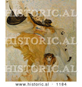 Historical Illustration of a Woman with Baby and Uncle Sam Dog with a Liberty Bond by Al