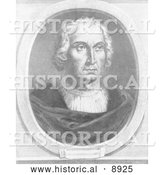 Historical Illustration of Christophorus Columbus - Black and White Version by Al