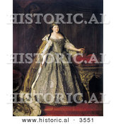 Historical Illustration of Queen Duchess and Empress of Russia - Anna Ivanovna of Russia by Al